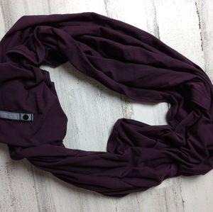 Lululemon eggplant vinyasa scarf.